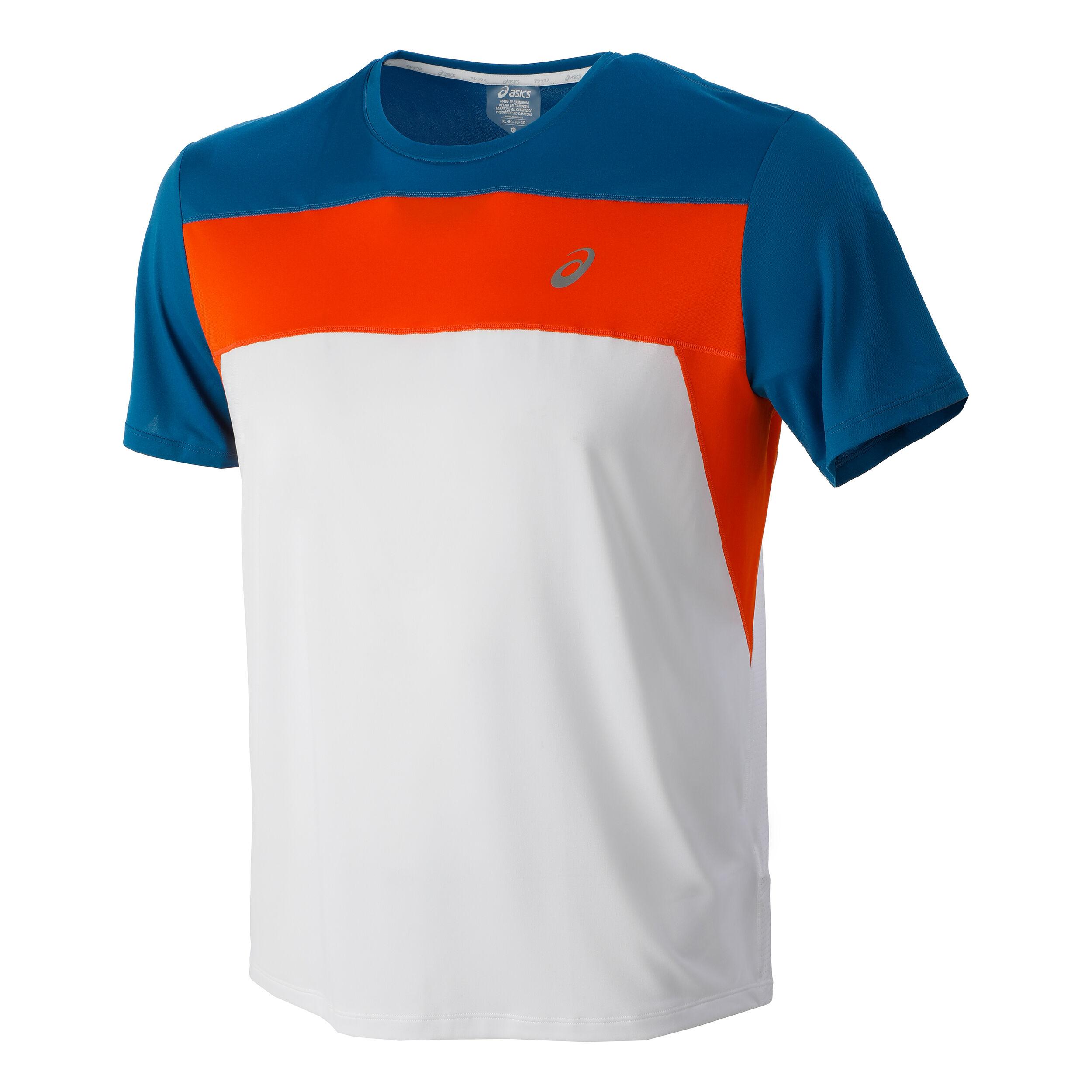 Race T-Shirt Men - White, Blue