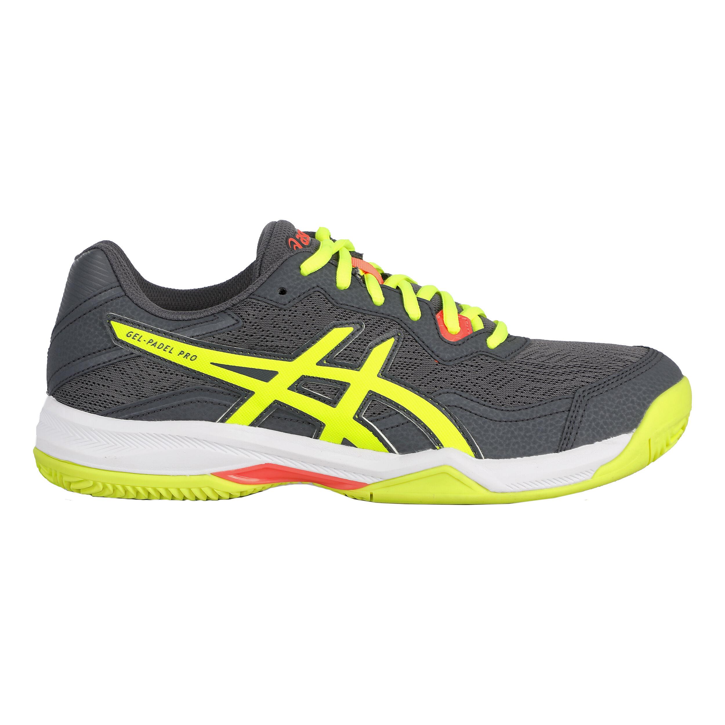 buy Asics Gel-Padel Pro 4 Padel Shoe Men - Dark Grey, Neon Yellow ...