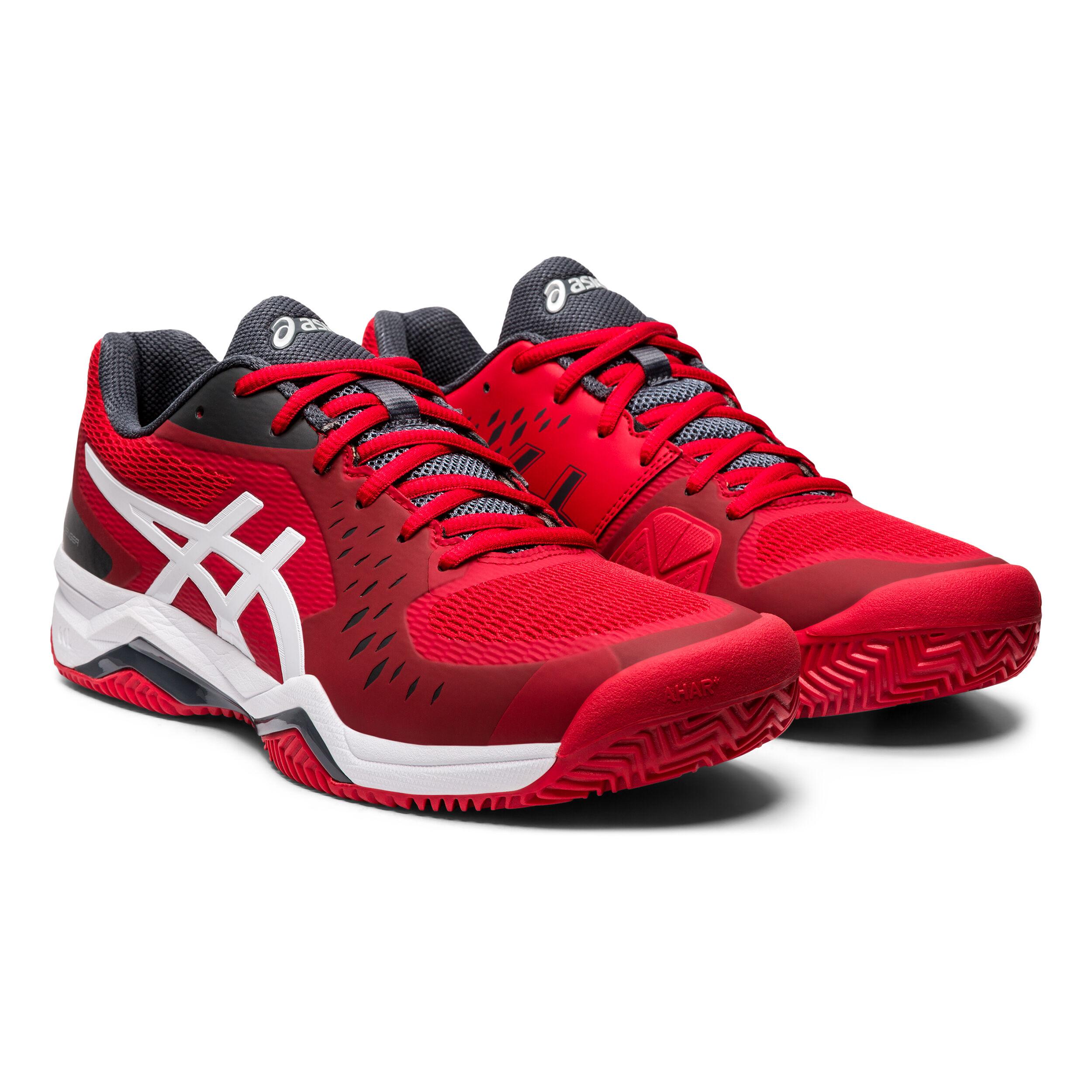buy Asics Gel-Challenger 12 Clay Court Shoe Men - Red, Dark Grey ...