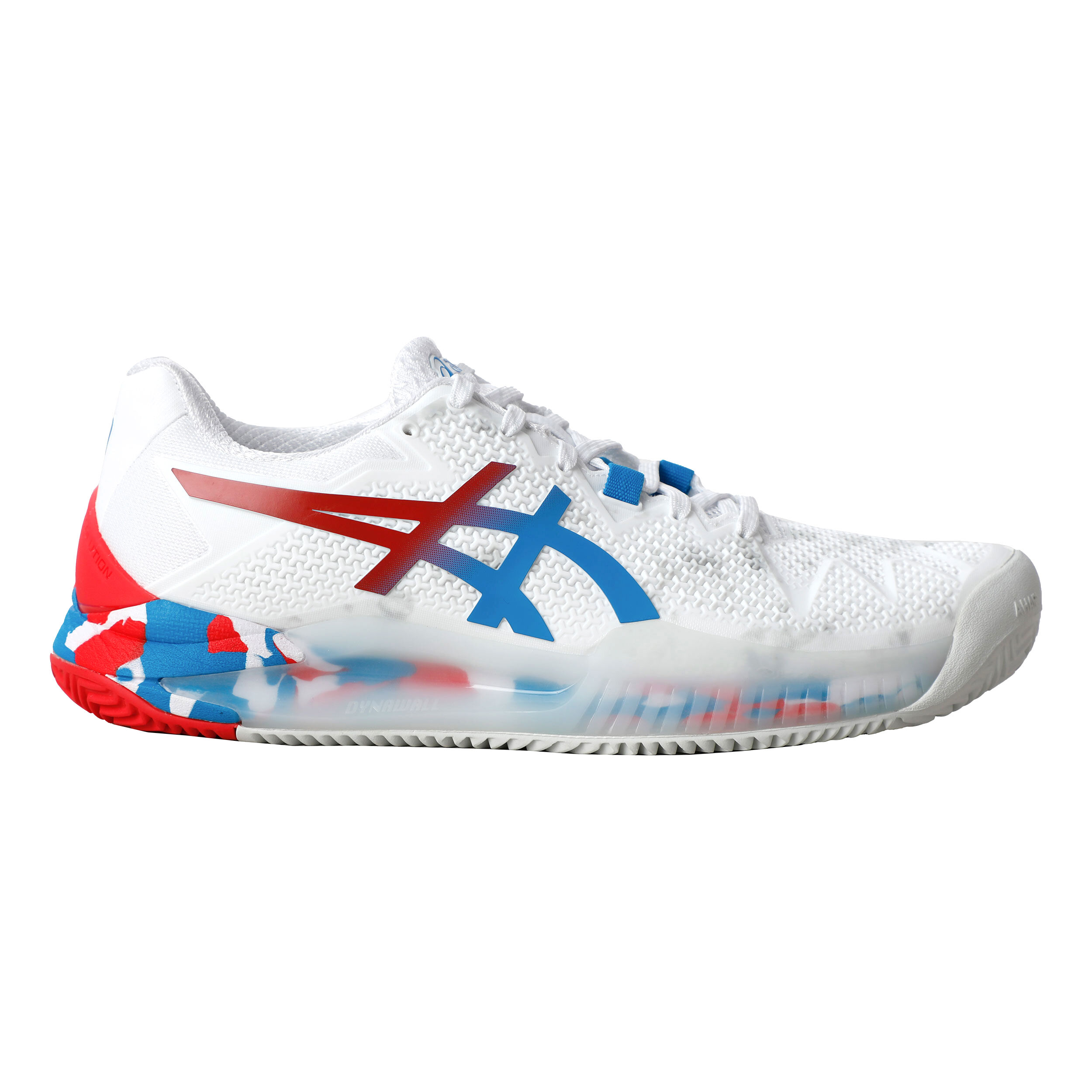 Asics Gel-Resolution 8 L.E. Clay Court Shoe Women - White, Red